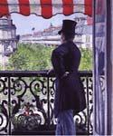 The Man on the Balcony by  Gustave Caillebotte (Painting ID: CI-0730-KA)