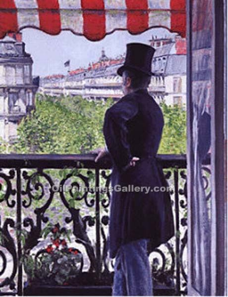 """The Man on the Balcony"" by  Gustave Caillebotte"