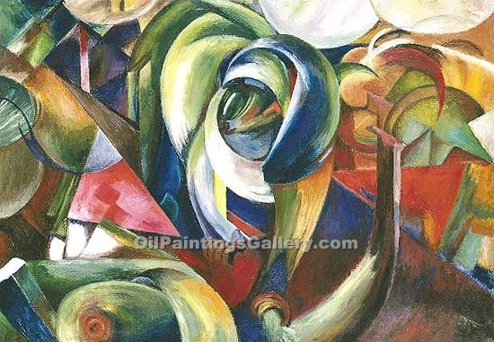 The Mandrill 77 by Franz Marc | Oil On Canvas Painting - Oil Paintings Gallery