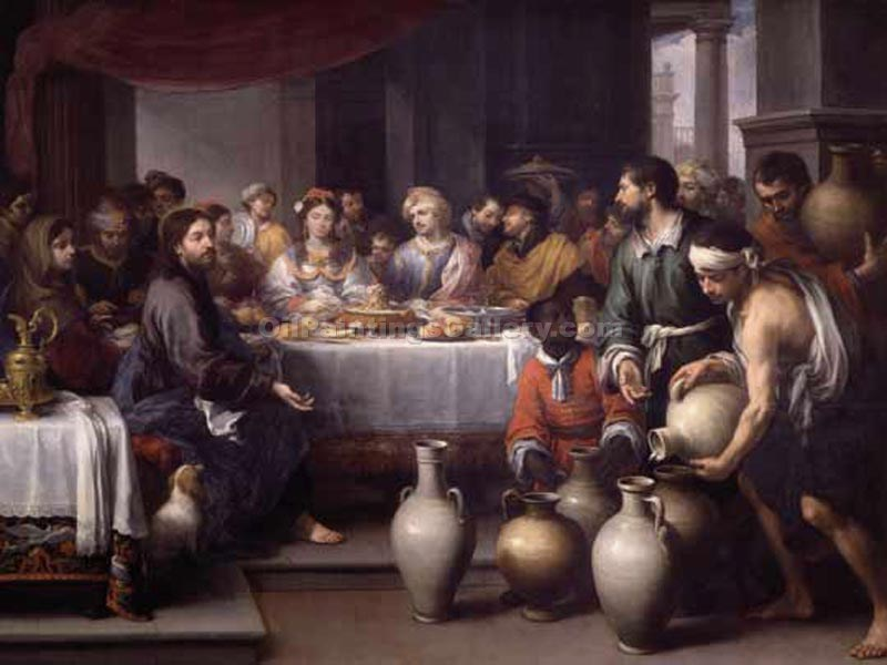 """The Marriage at Cana"" by  Bartolome Esteban Murillo"