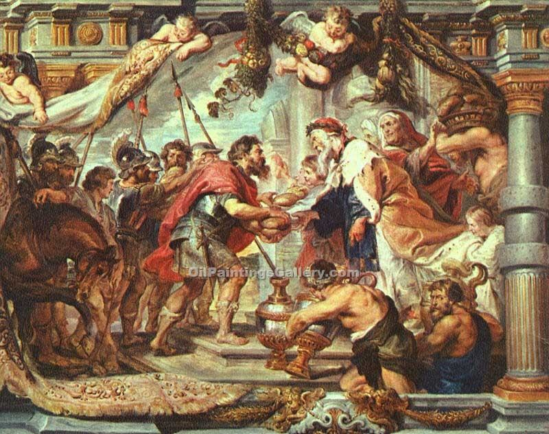 The Meeting of Abraham and Melchizedek by Rubens Peter Paul | Paintings Reproduction - Oil Paintings Gallery
