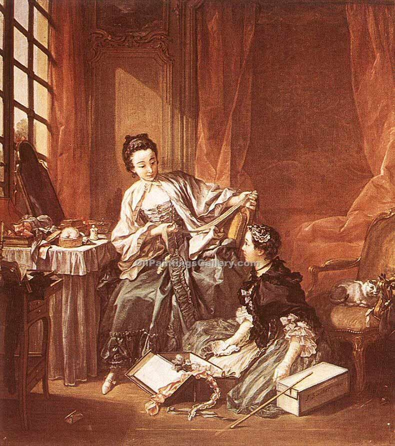 """The Milliner (The Morning)"" by  Francois Boucher"