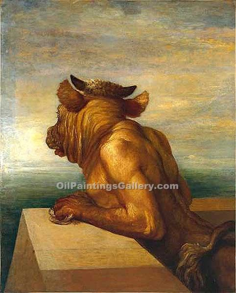 """The Minotaur"" by  George Watts"