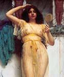 The Mirror 80 by  John William Godward (Painting ID: CL-4380-KA)