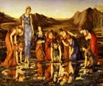 The Mirror of Venus by  Edward Burne Jones (Painting ID: CL-7024-KA)