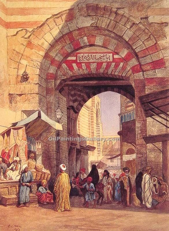 """The Moorish Bazaar"" by  Edwin Lord Weeks"
