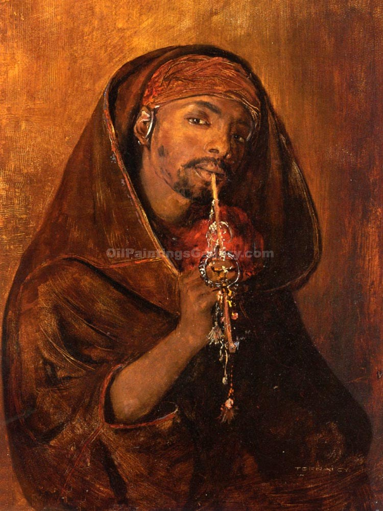 """The Moorish Smoker"" by  Gyula Tornai"