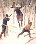 The Moose Hunt by  Frederic Remington (Painting ID: AN-2252-KA)