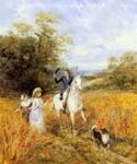 The Morning Ride  by  Heywood Hardy (Painting ID: AN-2237-KA)