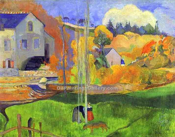 """The Moulin David"" by  Paul Gauguin"