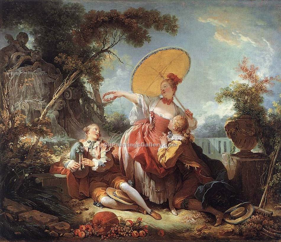 """The Musical Contest"" by  Jean Honore Fragonard"