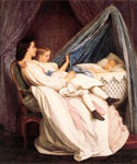 The New Arrival by  Auguste Toulmouche (Painting ID: ED-0827-KA)