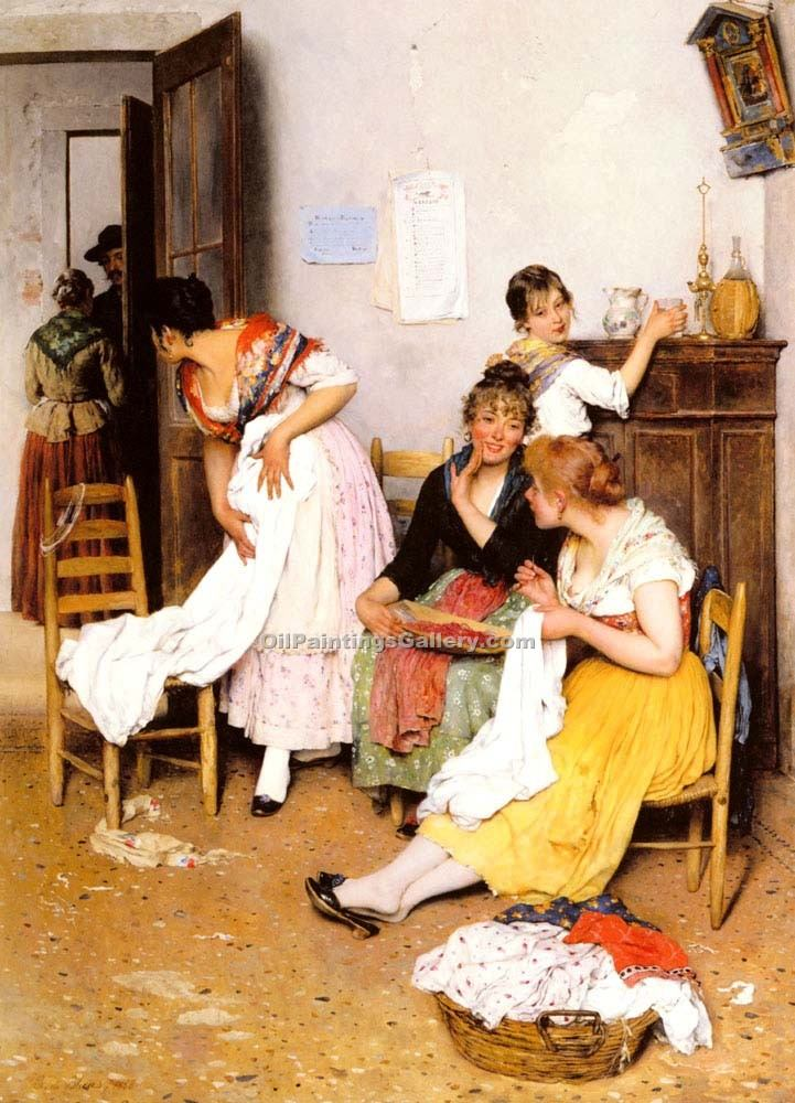 """The New Suitor"" by  Eugene de Blaas"
