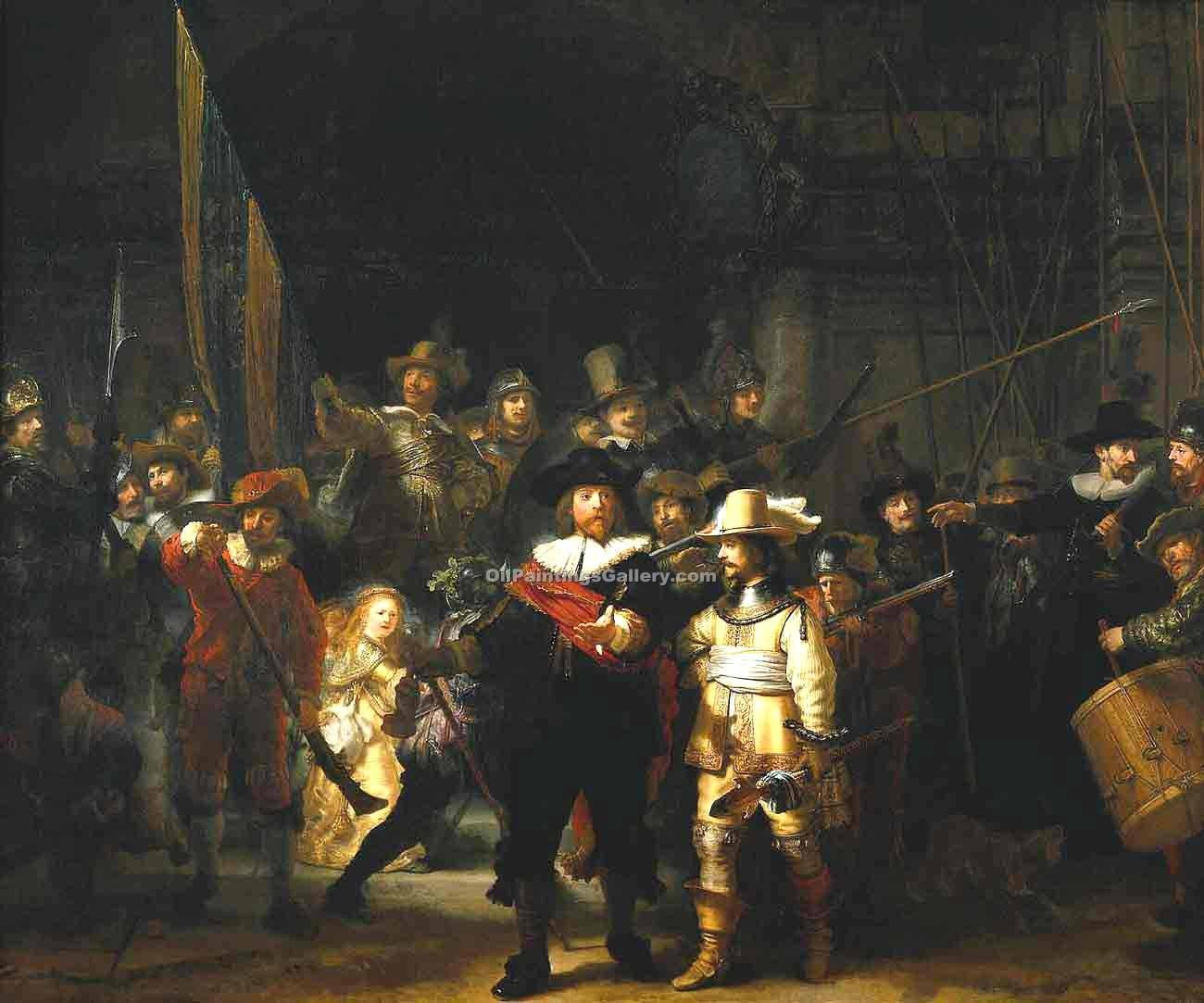 """The Night Watch"" by  Harmenszoonvan Van Rijn Rembrandt"