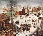 The Numbering at Bethlehem by  Pieter the Elder Brueghel (Painting ID: CL-6023-KA)
