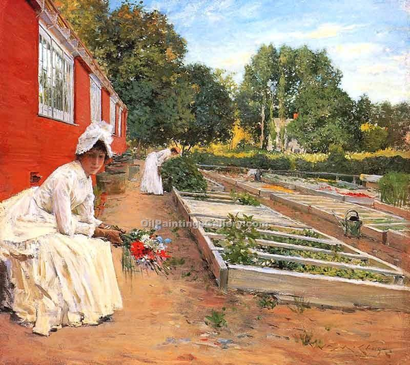 """The Nursery"" by  William Merritt Chase"