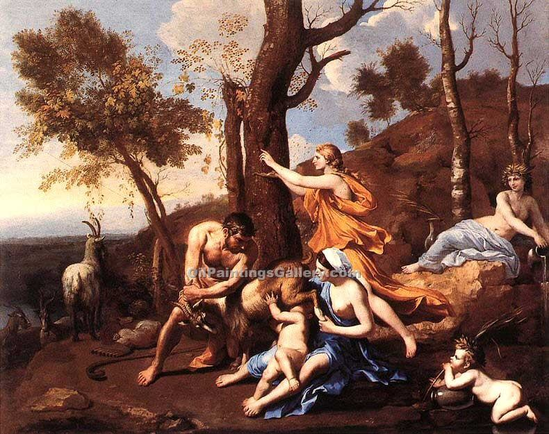 """The Nurture of Jupiter"" by  Nicolas Poussin"