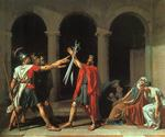 The Oath of the Horatii by  Jacques Louis David (Painting ID: CL-2850-KA)