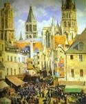 The Old Market Place in Rouen by  Camille Pissarro (Painting ID: CI-0838-KA)