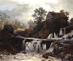 The Old Mill by  Andreas Achenbach (Painting ID: LA-0397-KA)
