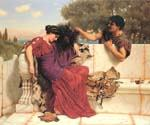 The Old Old Story 57 by  John William Godward (Painting ID: CL-4357-KA)