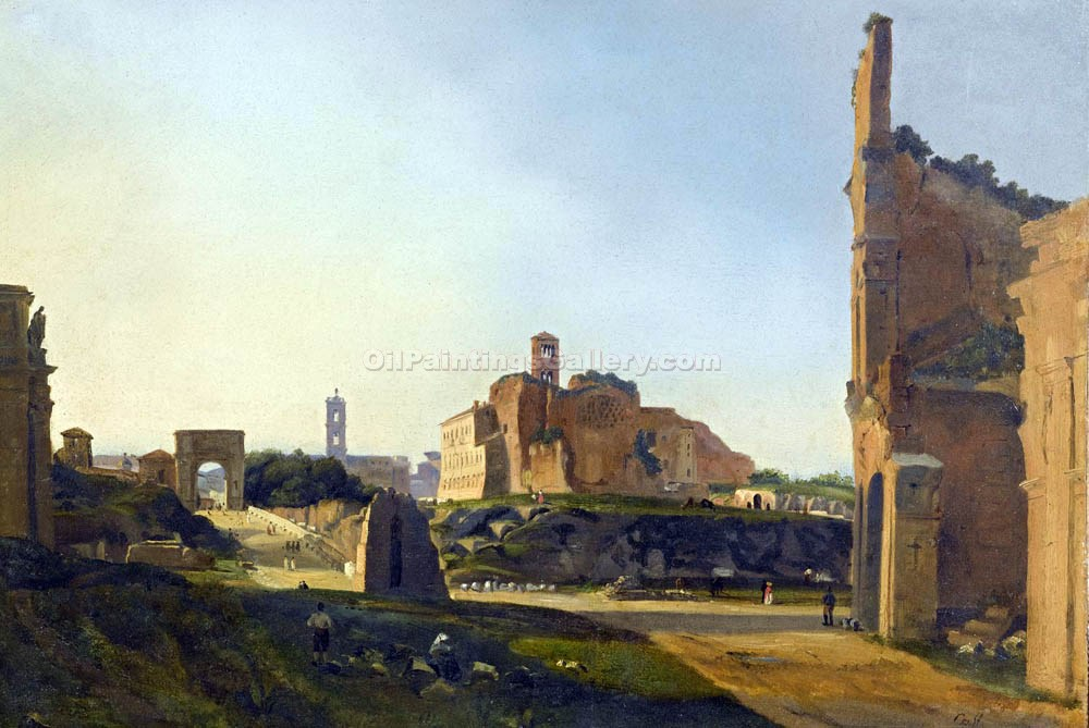 """The Old Ruins"" by  Ippolito Caffi"