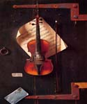The Old Violin by  William Michael Harnett (Painting ID: GA-0440-KA)