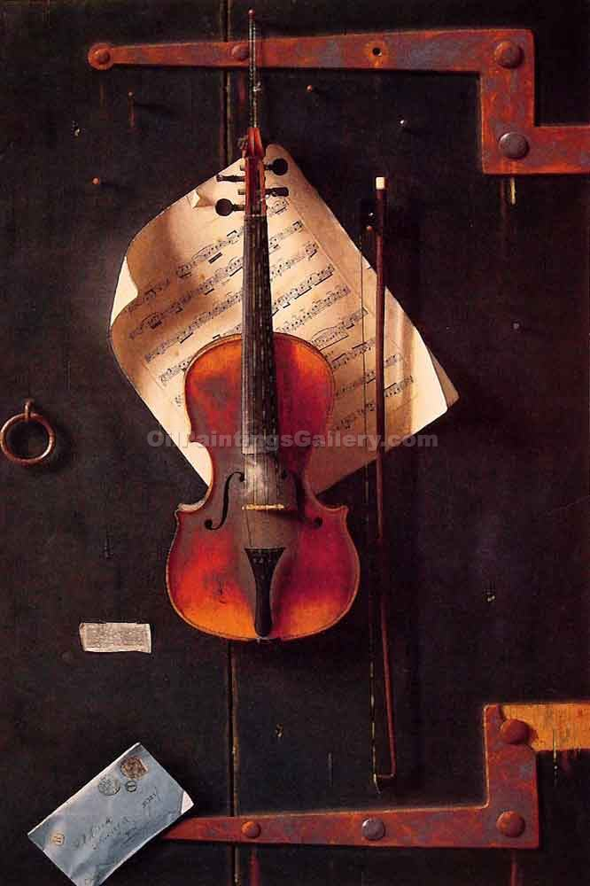 """The Old Violin"" by  William Michael Harnett"