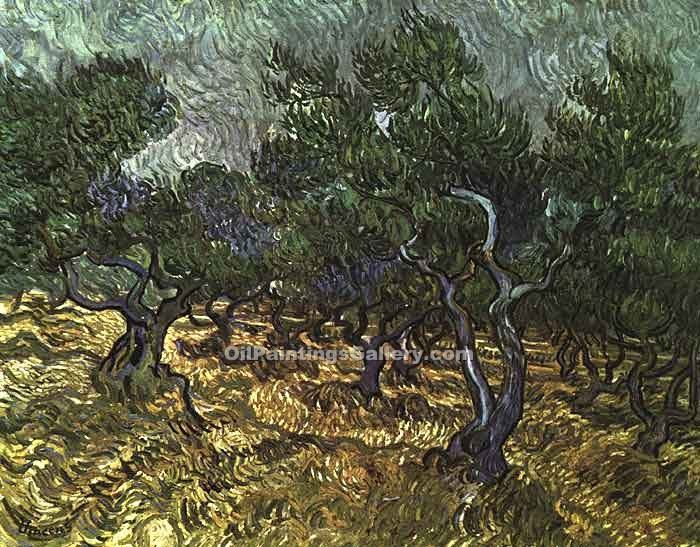 """The Olive Grove"" by  Vincent Van Gogh"