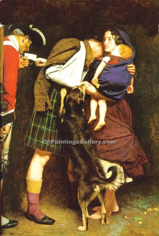 """The Order of Release"" by  John Everett Millais"