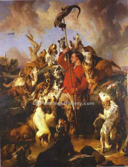 """The Otter Hunt"" by  Sir Edwin Henry Landseer"