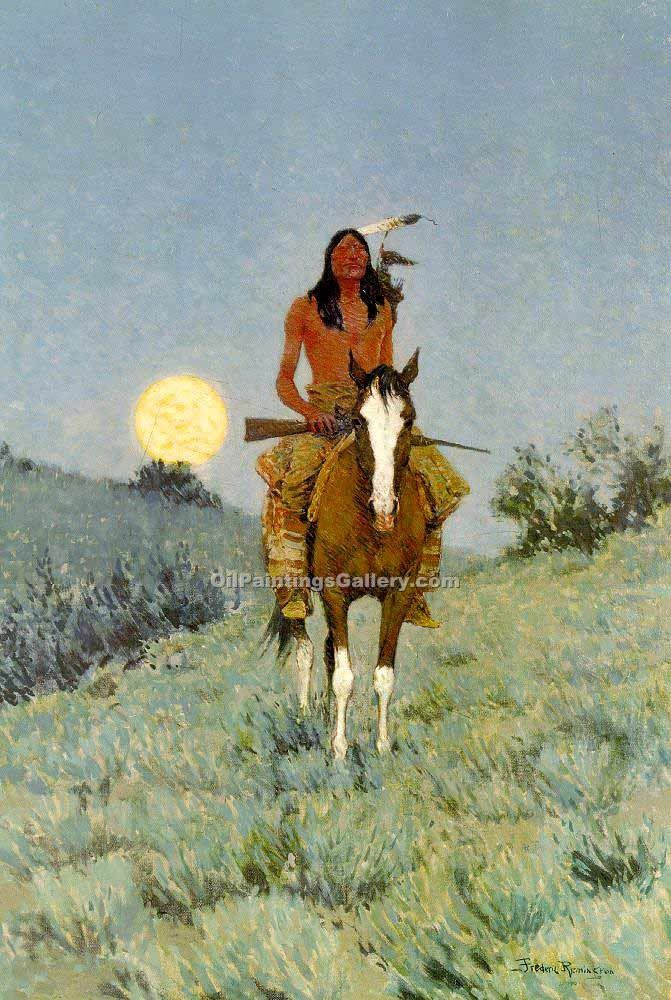 """The Outlier"" by  Frederic Remington"