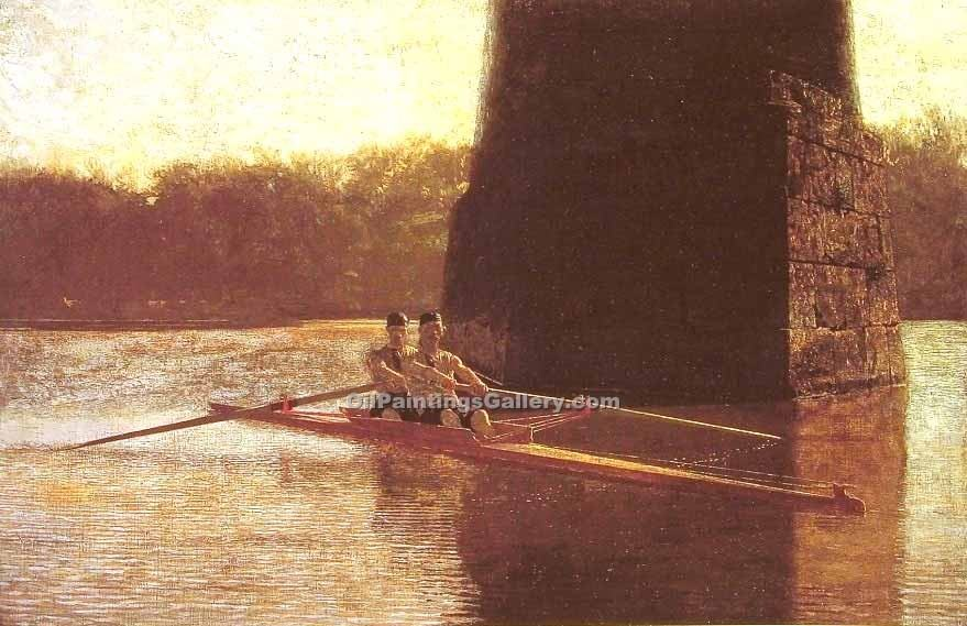 """The Pair Oared Shell"" by  Thomas Eakins"