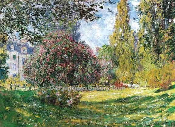 The Park Monceau by Claude Monet | Canvas Oil Painting - Oil Paintings Gallery