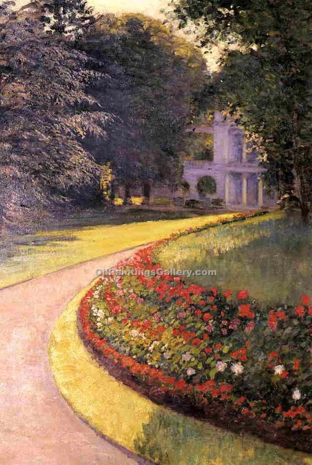 """The Park at Yerres"" by  Gustave Caillebotte"