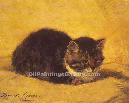 """The Parson s Kitten"" by  Henriette Ronner Knip"