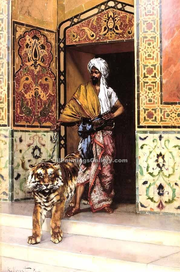 """The Pashas Favourite Tiger"" by  Rudolf Ernst"