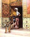 The Pashas Favourite Tiger by  Rudolf Ernst (Painting ID: ER-0144-KA)