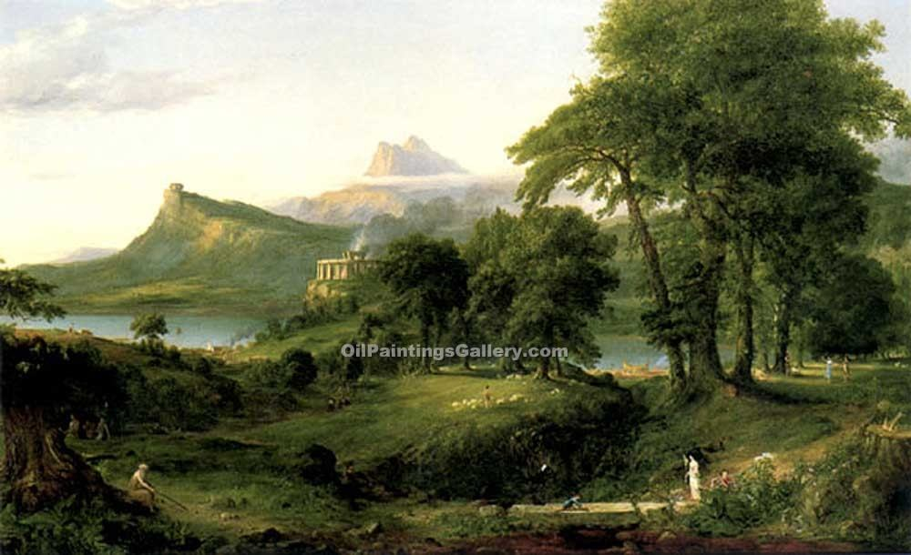 """The Pastoral or Arcadian State"" by  Thomas Cole"