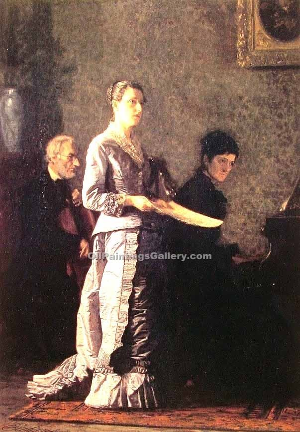 """The Pathetic Song"" by  Thomas Eakins"