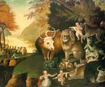 The Peaceable Kingdom by  Edward Hicks (Painting ID: AN-1080-KA)