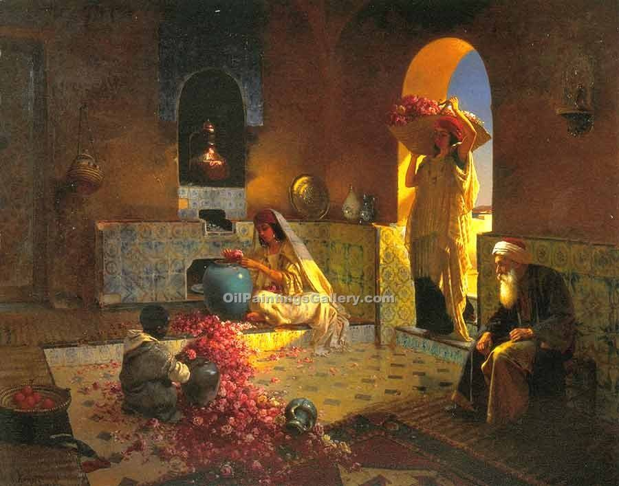 The Perfume by Rudolf Ernst | Artwork For Sale - Oil Paintings Gallery