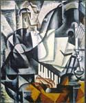 The Pianist by  Lyubov Popova (Painting ID: AB-8478-KA)