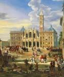 The Piazza and Church of Santa Maria Maggiore 50 by  Giovanni Paolo Pannini (Painting ID: CM-0850-KA)