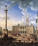 The Piazza and Church of Santa Maria Maggiore 51 by  Giovanni Paolo Pannini (Painting ID: CM-0851-KA)