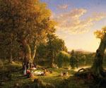 The Picnic 4 by  Thomas Cole (Painting ID: LA-5644-KA)