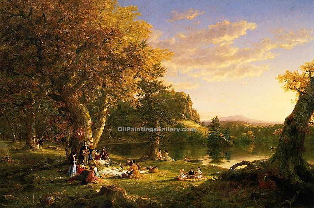"""The Picnic 4"" by  Thomas Cole"