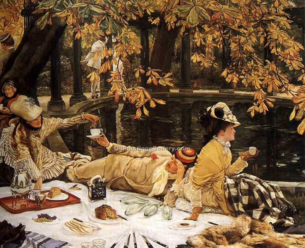 """The Picnic 82"" by  James Tissot"