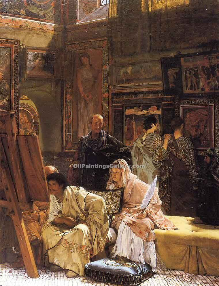 """The Picture Gallery"" by  Sir Lawrence Alma Tadema"