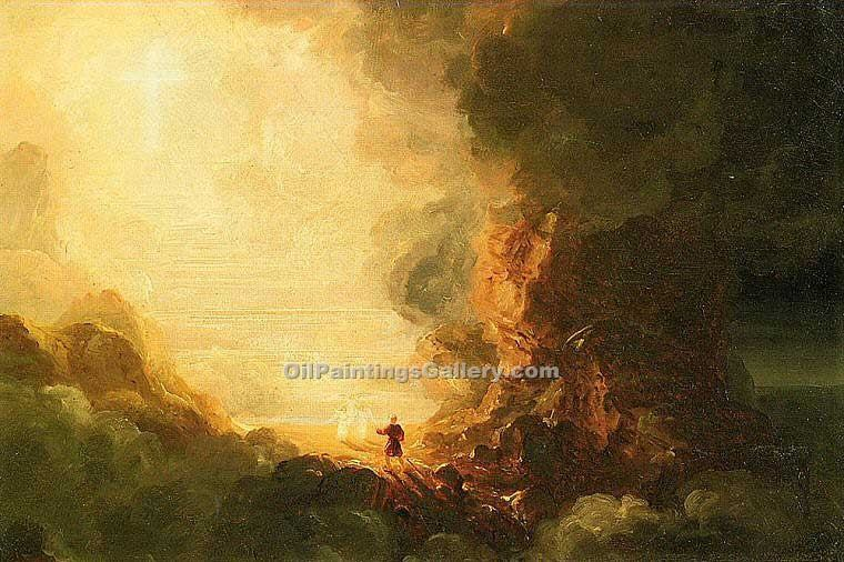 """The Pilgrim of the Cross"" by  Thomas Cole"